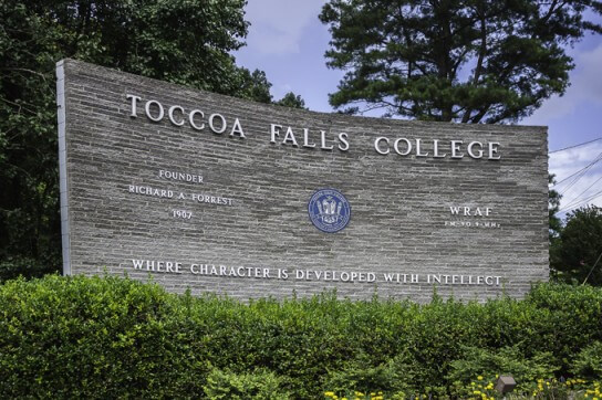 Toccoa Falls College - Online Bachelor's in Religious Studies