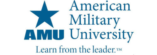 A logo of American Military University for our ranking of Top 30 Political Science Degree Online Programs Bachelor's