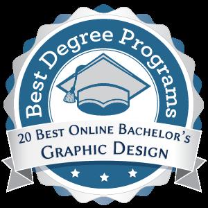 20 Best Online Bachelor's in Graphic Design Badge