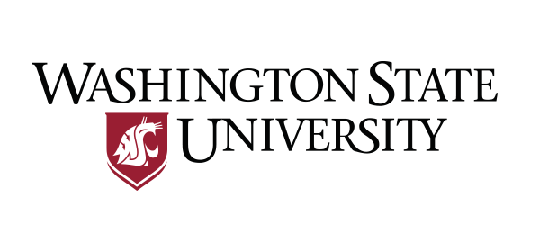A logo of Washington State University for our ranking of 30 political science degree online programs