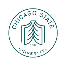 A logo of Chicago State University for our ranking of 30 Great Small Colleges for a Teaching Degree