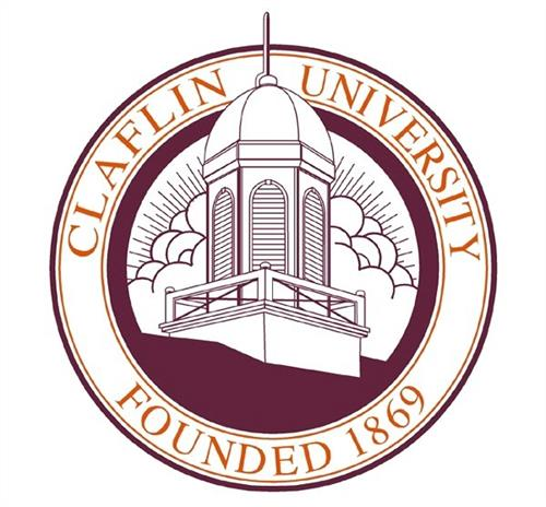 A logo of Claflin University for our ranking of 30 Great Small Colleges for a Teaching Degree