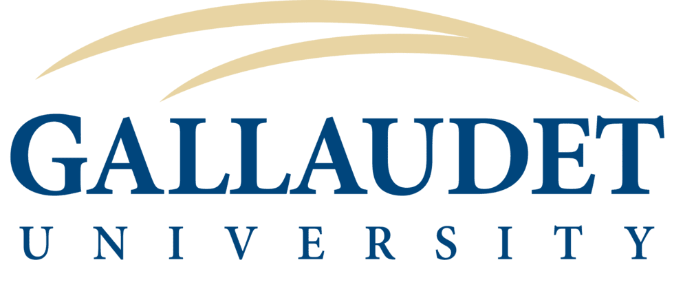 A logo of Gallaudet University for our ranking of 30 Great Small Colleges for a Teaching Degree