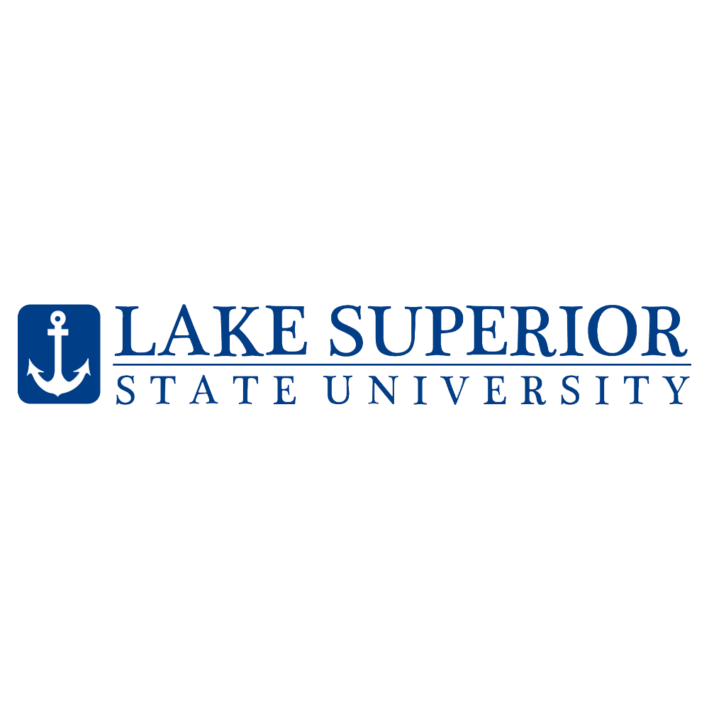 A logo of Lake Superior State University for our ranking of 30 Great Small Colleges for a Teaching Degree