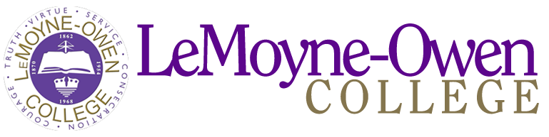 A logo of LeMoyne-Owen College for our ranking of 30 Great Small Colleges for a Teaching Degree