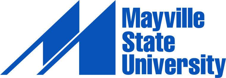 A logo of Mayville State University for our ranking of 30 Great Small Colleges for a Teaching Degree