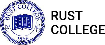 A logo of Rust College for our ranking of 30 Great Small Colleges for a Teaching Degree