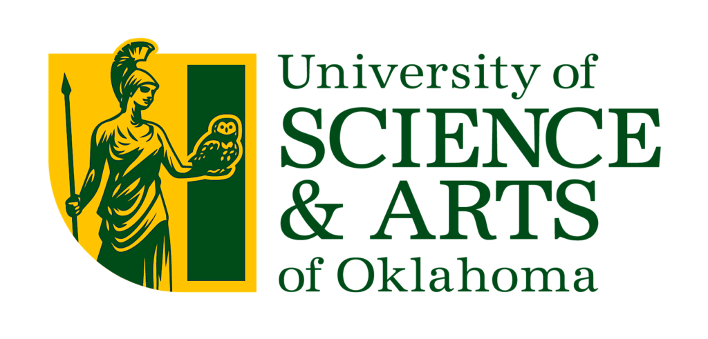A logo of University of Science and Arts of Oklahoma for our ranking of 30 Great Small Colleges for a Teaching Degree