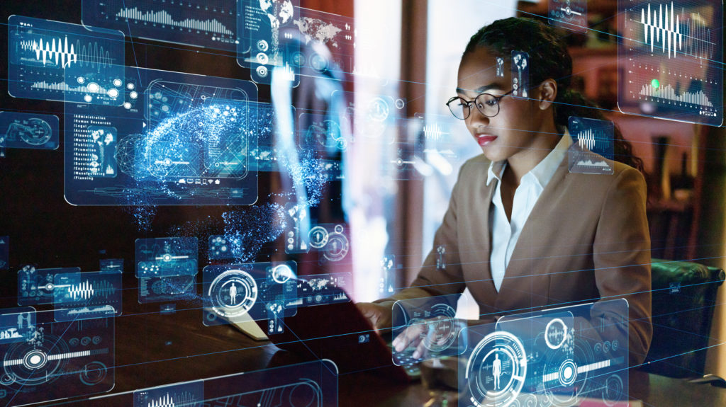 An image of a woman for our FAQ about What's the Best Degree Path for Becoming an Intelligence Analyst