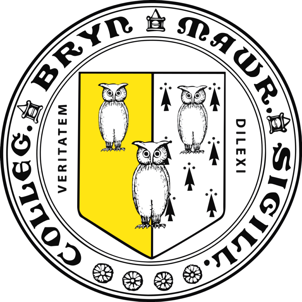 A logo of Bryn Mawr College for our ranking of 30 Great Small Colleges for STEM Degrees