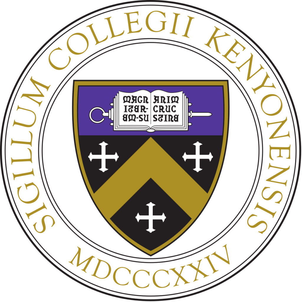 A logo of Kenyon College for our ranking of  30 Great Small Colleges for STEM Degrees