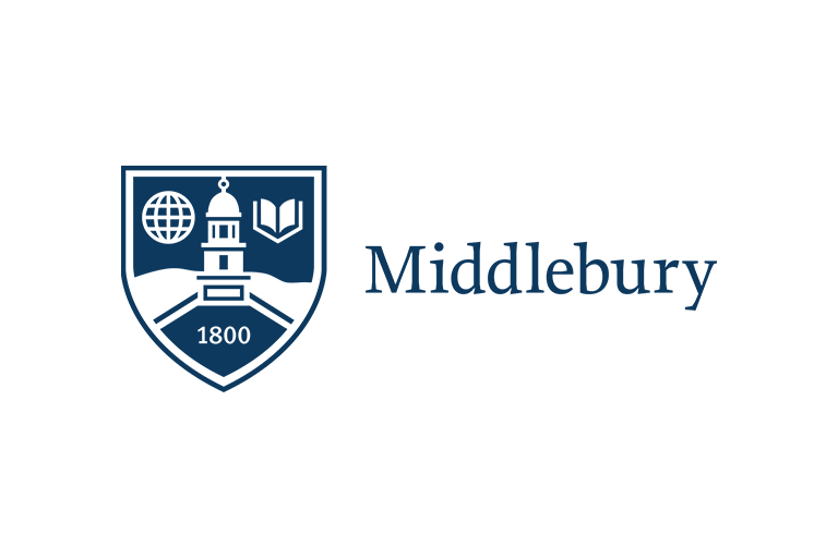 A logo of Middlebury College for our ranking of 30 Great Small Colleges for STEM Degrees