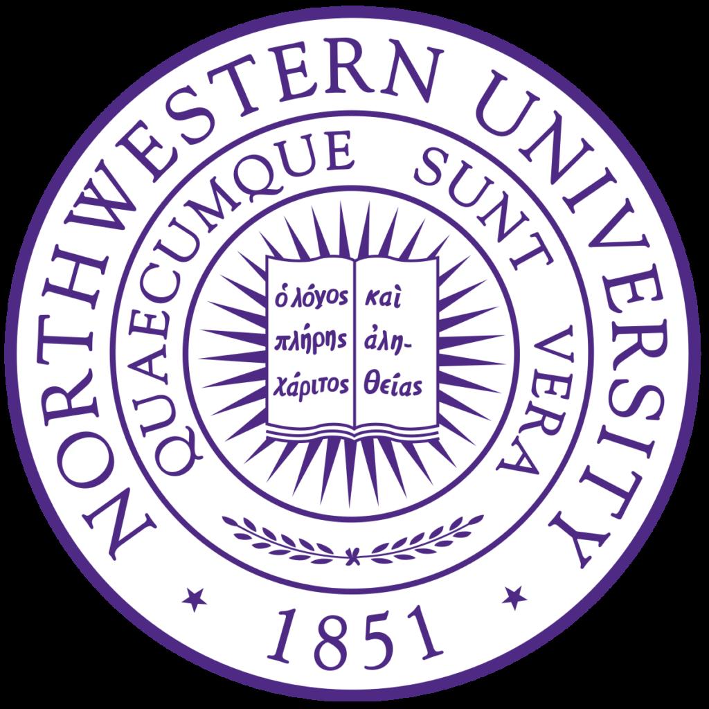 A logo of Northwestern University for our ranking of the 10 Best University Jazz Programs