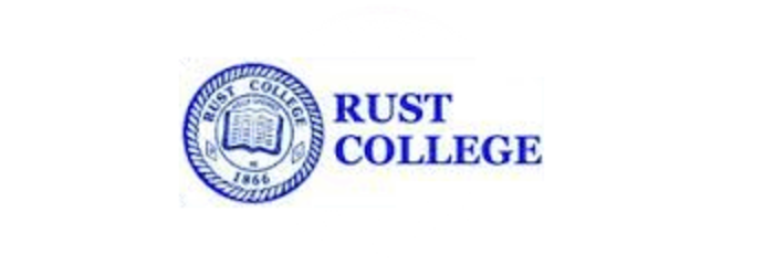 A logo of Rust College for our ranking of 30 Great Small Colleges for STEM Degrees