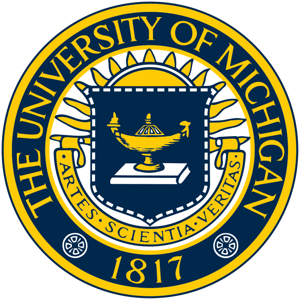 A logo of University of Michigan for our ranking of 10 Best University Jazz Programs